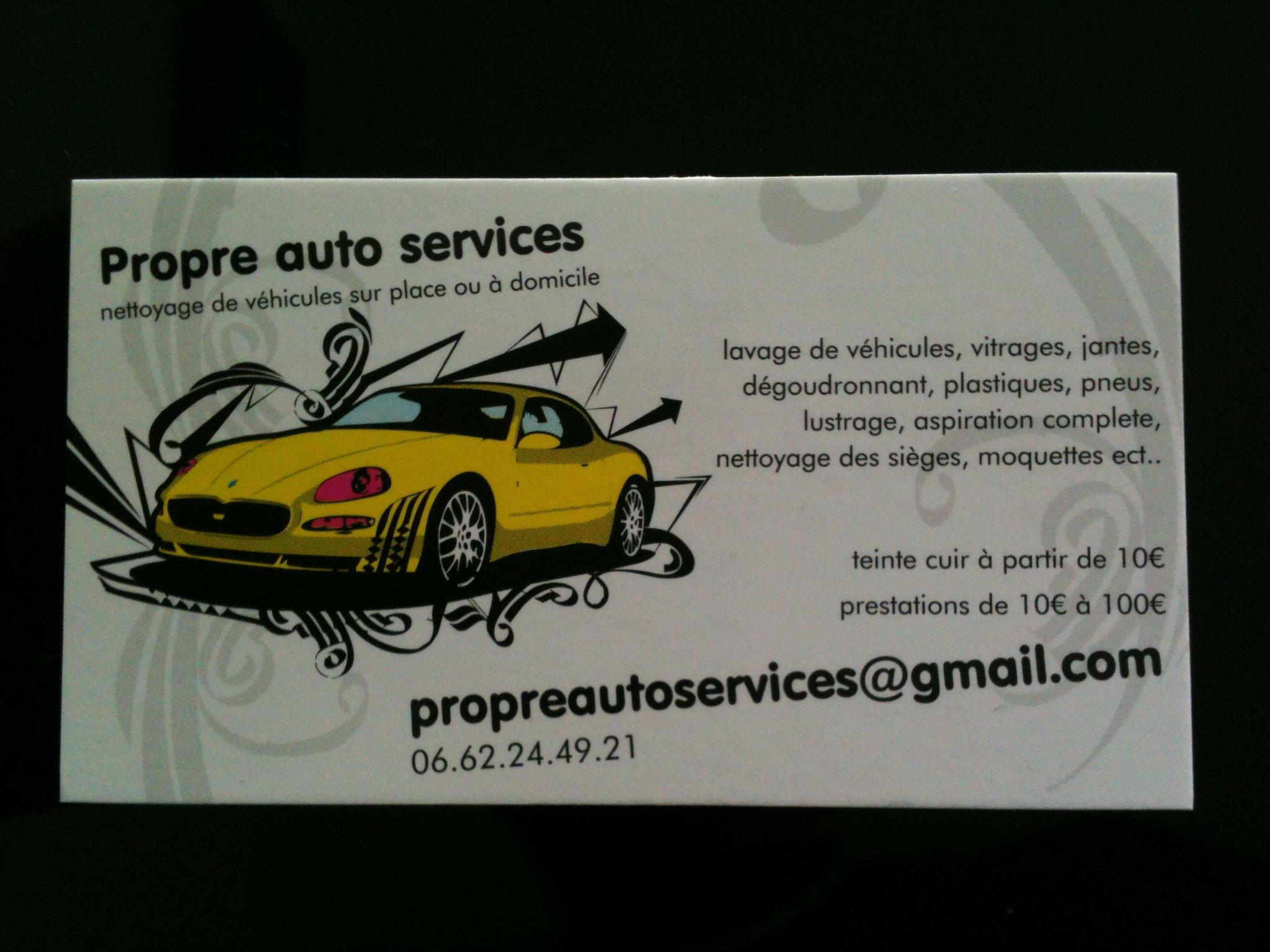 Carte De Visite Propre Auto Services
